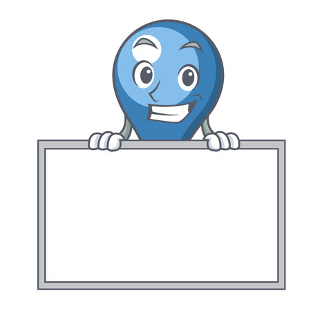 Grinning with board clyster character cartoon style