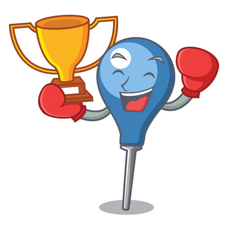 Boxing winner clyster mascot cartoon style