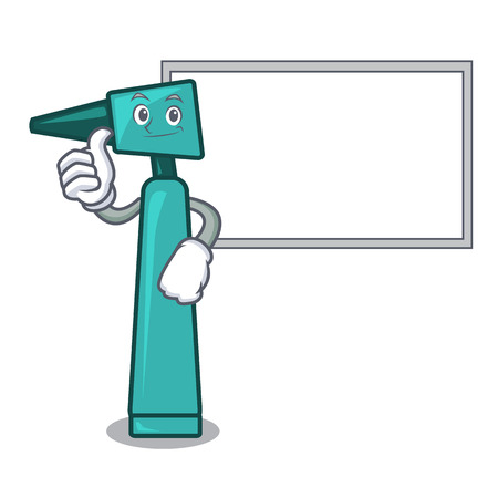 Thumbs up with board otoscope character cartoon style vector illustration Standard-Bild - 101347079
