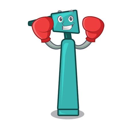 Boxing otoscope character cartoon style vector illustration Illustration
