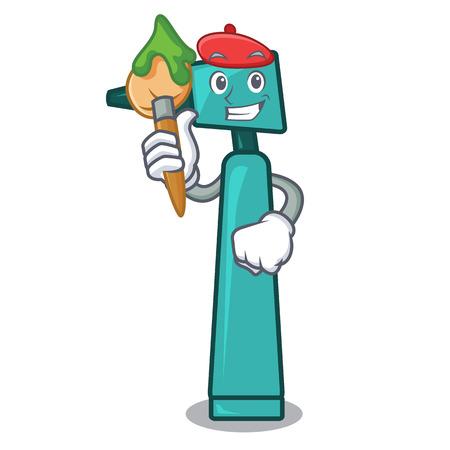 Artist otoscope character cartoon style vector illustration