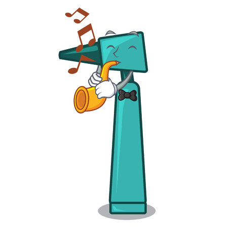 With trumpet otoscope mascot cartoon style vector illustration Illustration