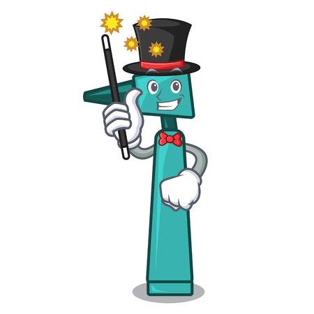 Magician otoscope mascot cartoon style vector illustration