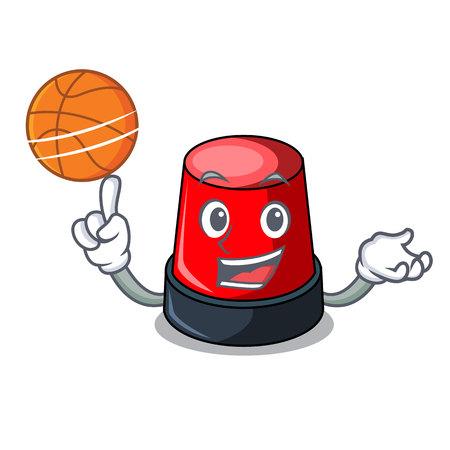 バスケットボールサイレンキャラクター漫画スタイルのベクトルイラスト