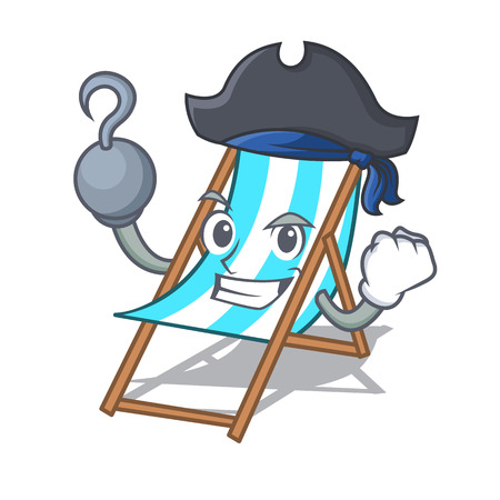 Pirate beach chair character cartoon