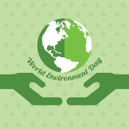 Word environment day background earth vector illustration