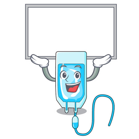 Up board infusion bottle character cartoon vector illustration Vectores
