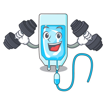 Fitness infusion bottle character cartoon vector illustration