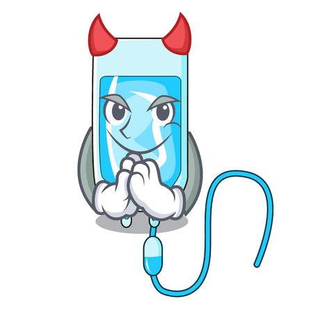 Devil infusion bottle mascot cartoon vector illustration