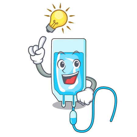 Have an idea infusion bottle mascot cartoon vector illustration