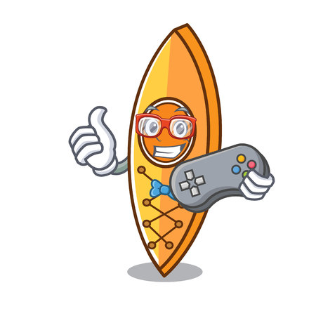 Gamer canoe mascot cartoon style vector illustration Illustration
