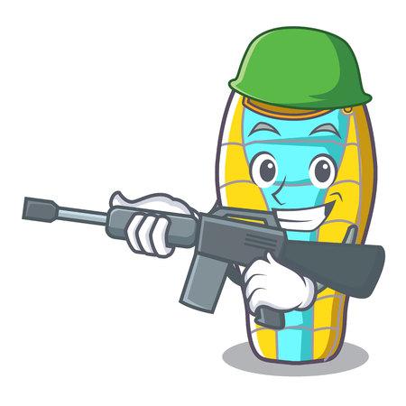 Army sleeping bad character cartoon vector illustration