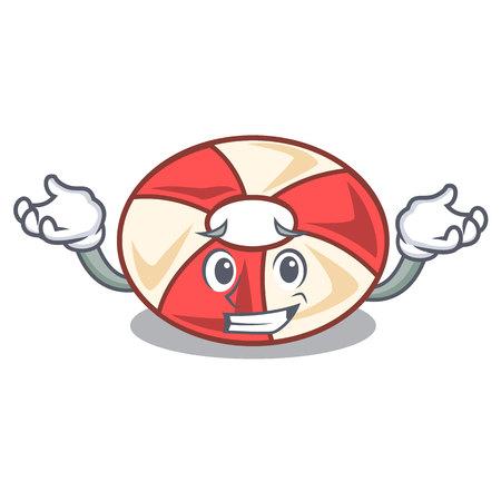 Grinning swim tube character cartoon Illustration