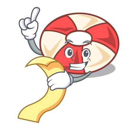 With menu swim tube mascot cartoon Illustration