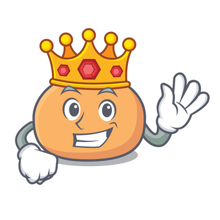 King mochi mascot cartoon style Ilustração