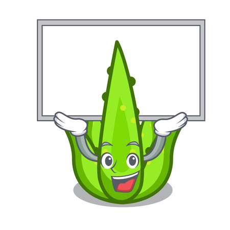 Up board aloevera character cartoon style vector illustration Ilustracja