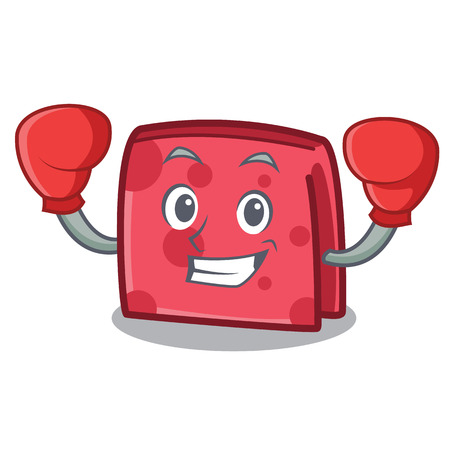Boxing napkin character cartoon style vector illustration
