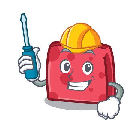Automotive napkin character cartoon style vector illustration