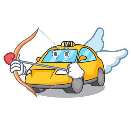 Cupid taxi character cartoon style vector illustration Illustration