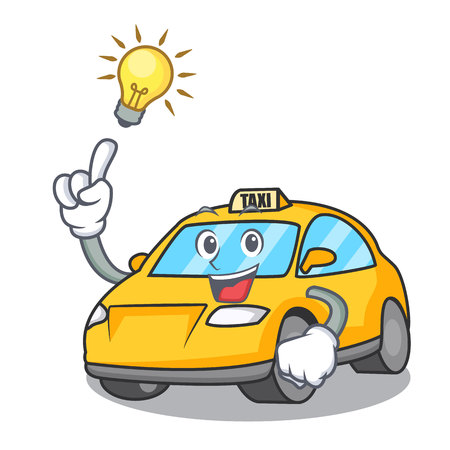 Have an idea taxi character mascot style vector illustration