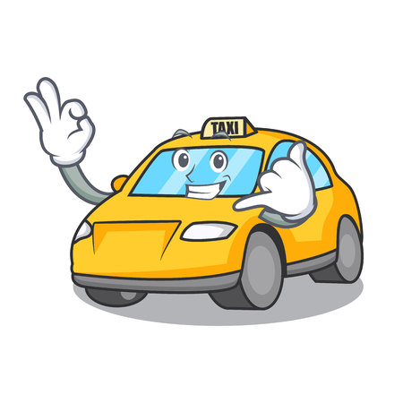 Call me taxi character mascot style vector illustration