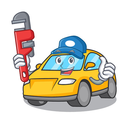 Plumber taxi character mascot style vector illustration Illustration