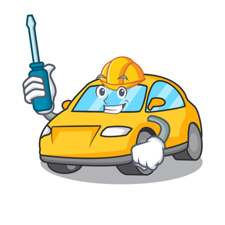 Automotive taxi character mascot style vector illustration Illustration