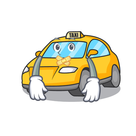 Silent taxi character mascot style vector illustration Illustration
