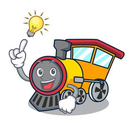 Have an idea train mascot cartoon style Illustration