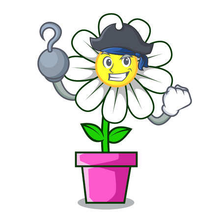 Pirate daisy flower character cartoon