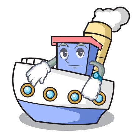 Waiting ship mascot cartoon style Ilustrace