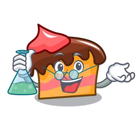 Professor sponge cake character cartoon vector illustration