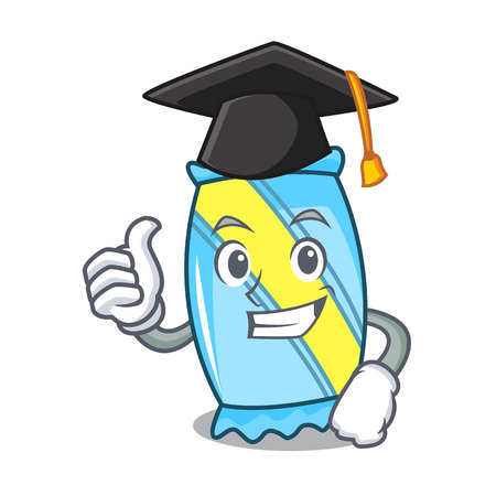 Graduation candy character cartoon style