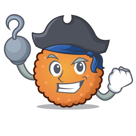 Pirate cookies character cartoon style vector illustration Illustration