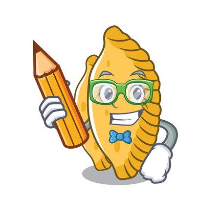 Student pastel character cartoon style vector illustration
