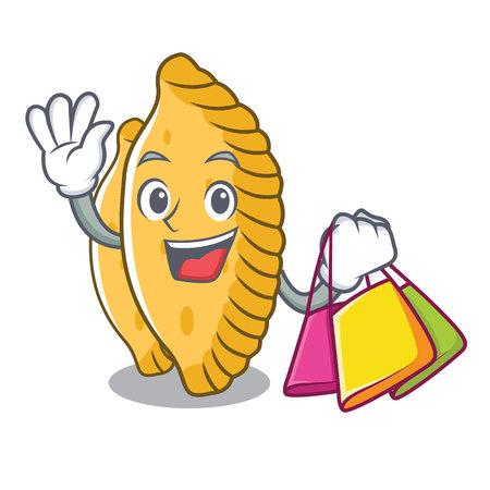 Shopping pastel character cartoon style vector illustration Illustration