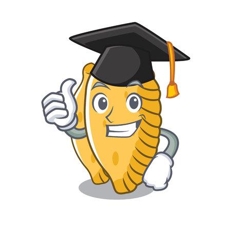Graduation pastel character cartoon style vector illustration Illustration
