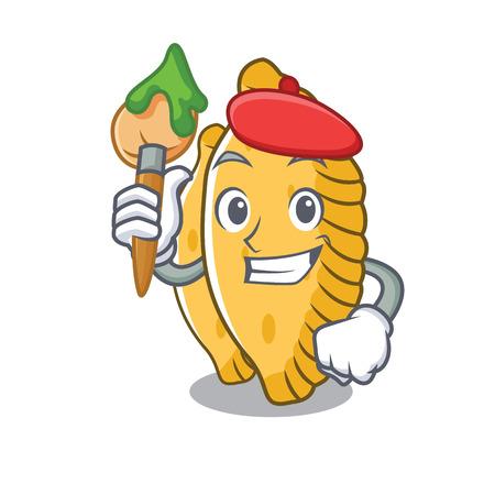 Artist pastel character cartoon style vector illustration Illustration