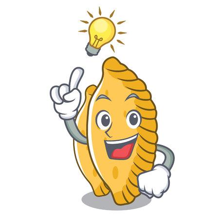 Have an idea pastel mascot cartoon style vector illustration