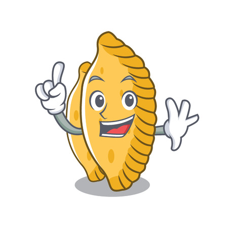 Finger pastel mascot cartoon style vector illustration