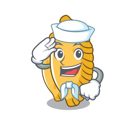 Sailor pastel character cartoon style vector illustration