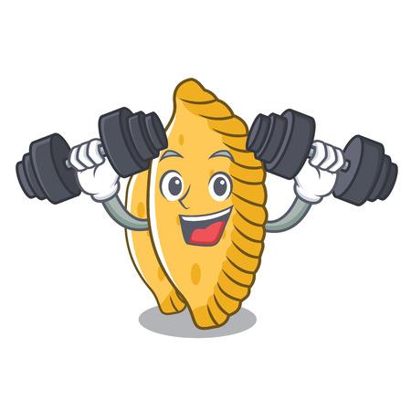 Fitness pastel character cartoon style vector illustration