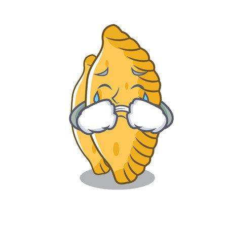 Crying pastel mascot cartoon style vector illustration 向量圖像