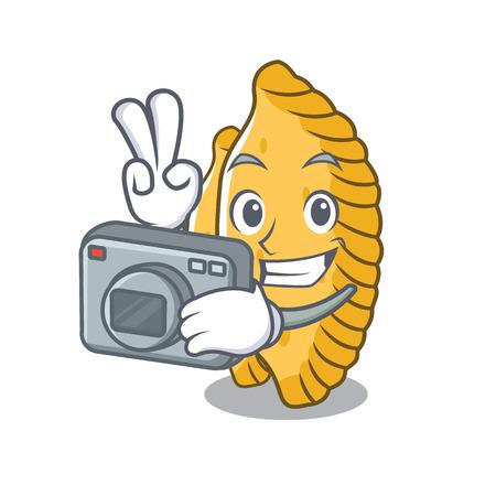Photographer pastel mascot cartoon style vector illustration Illustration