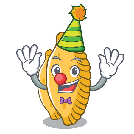 Clown pastel mascot cartoon style vector illustration