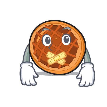 Silent baked pie mascot cartoon vector illustration