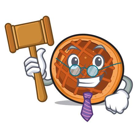 Judge baked pie mascot cartoon
