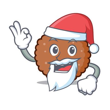 Santa chocolate biscuit mascot cartoon vector illustration