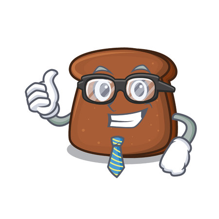 Businessman brown bread character cartoon Illustration