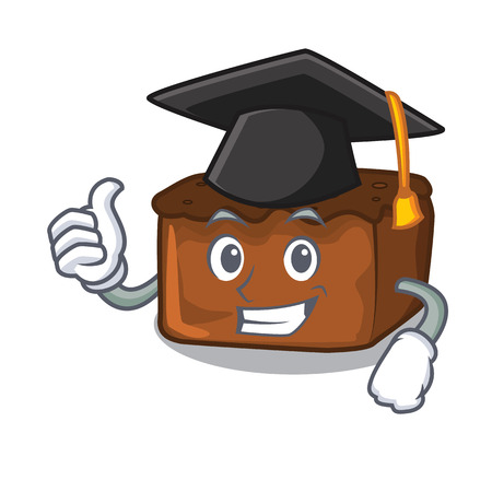 Graduation brownies character cartoon style